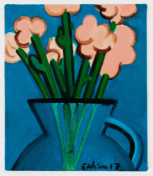 André Ethier, 'Untitled (Pink Flowers)', 2017