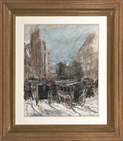 Everett Shinn, 'Fifth Avenue', about 1899