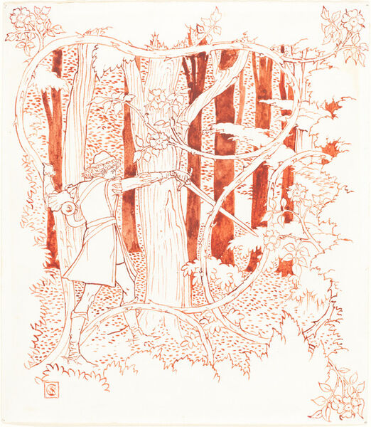 Walter Crane, 'Prince Charming in the Forest'