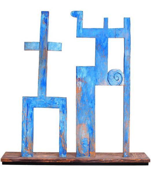 Francisco Matto, 'Monumento azul', 1991