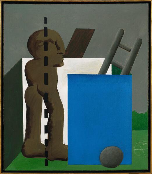 Horst Antes, 'Braune Figur und Architektur', 1969-1970