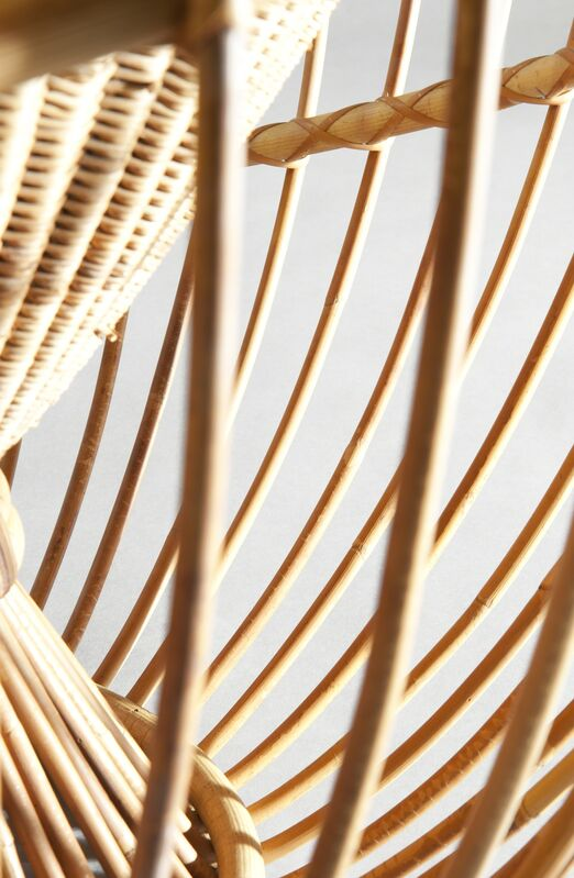 Janine Abraham and Dirk Jan Rol, 'Pair of armchairs A.R.1956.10 «Soleil»Edition Service Propagande durotin', 1956, Design/Decorative Art, Rattan of Manila and marrow of rattan, Galerie Pascal Cuisinier