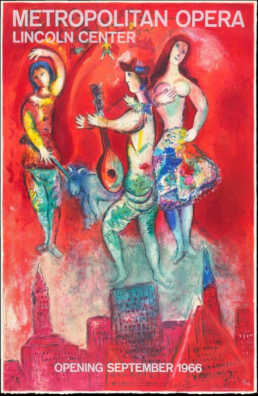 Marc Chagall, 'Carmen', 1967, Posters, Original lithograph printed in colors on wove paper bearing the Arches script watermark., Christopher-Clark Fine Art