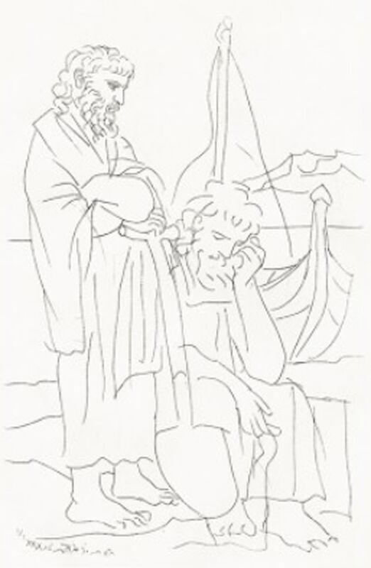 Pablo Picasso, 'Deux Vieux au Bord de la Mer', 1934, Print, Etching, Georgetown Frame Shoppe