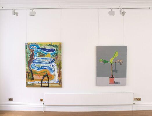 Refiguring - Paintings by Austin Eddy, Tamara Gonzales, Shara Hughes, Ryan Schneider and Guy Yanai, installation view