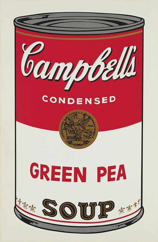Andy Warhol, 'Green Pea, from Campbell's Soup I', 1968, Print, Screenprint in colors, on wove paper, with full margins., Phillips