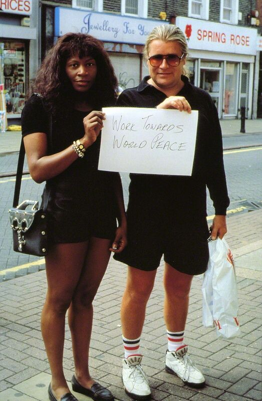 Gillian Wearing, 'Signs that say what you want them to say and not Signs that say what someone else wants you to say (Work towards world peace)', 1992-1993, Photography, C-print, Tanya Bonakdar Gallery