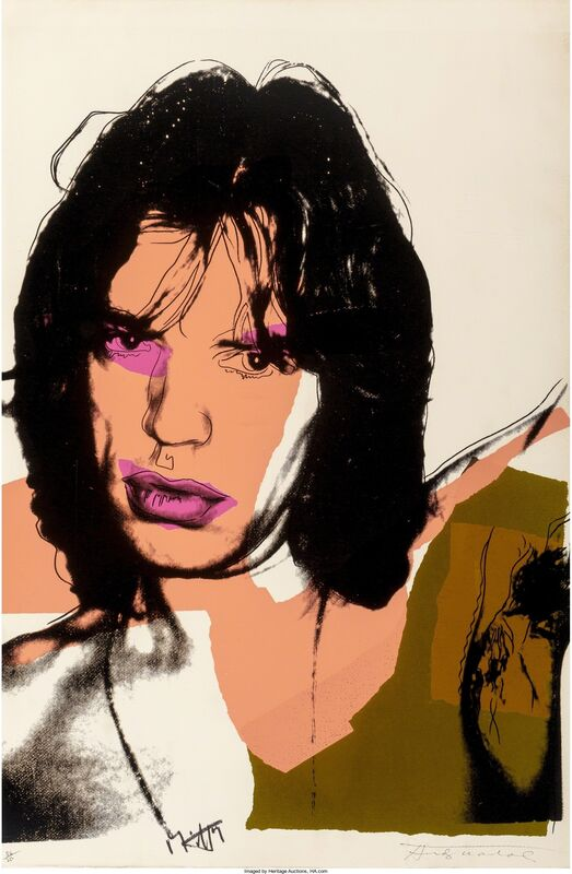 Andy Warhol, 'Mick Jagger, from the Mick Jagger portfolio', 1975, Print, Screenprint in colors on Arches Aquarelle (Rough) paper, Heritage Auctions