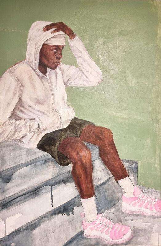 Abigail Oyesam, 'Kerron', 2021, Painting, Mixed Media on board, Cerbera Gallery