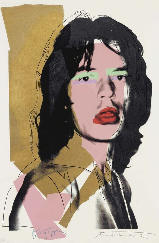 Andy Warhol, 'Mick Jagger: one plate', 1975, Print, Screenprint in colors, on Arches Aquarelle paper, Christie's