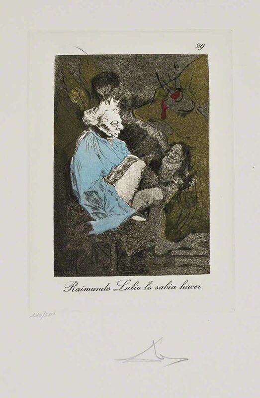 Salvador Dalí, 'Raimundo Lulio lo sabia hacer (Les Caprices de Goya de Dalí, #29)', 1977, Print, Hand-signed etching on heliogravure, Martin Lawrence Galleries