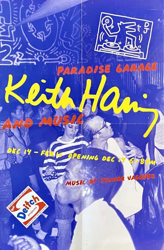 Keith Haring, 'Keith Haring Paradise Garage exhibit poster (Keith Haring Jeffrey Deitch)', 2000, Ephemera or Merchandise, Offset lithograph, Lot 180