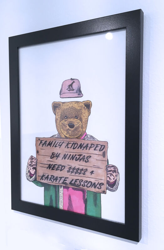 Sean 9 Lugo, 'Family Kidnapped By Ninjas', 2019, Drawing, Collage or other Work on Paper, Marker and ink on Bristol paper, framed, Deep Space Gallery