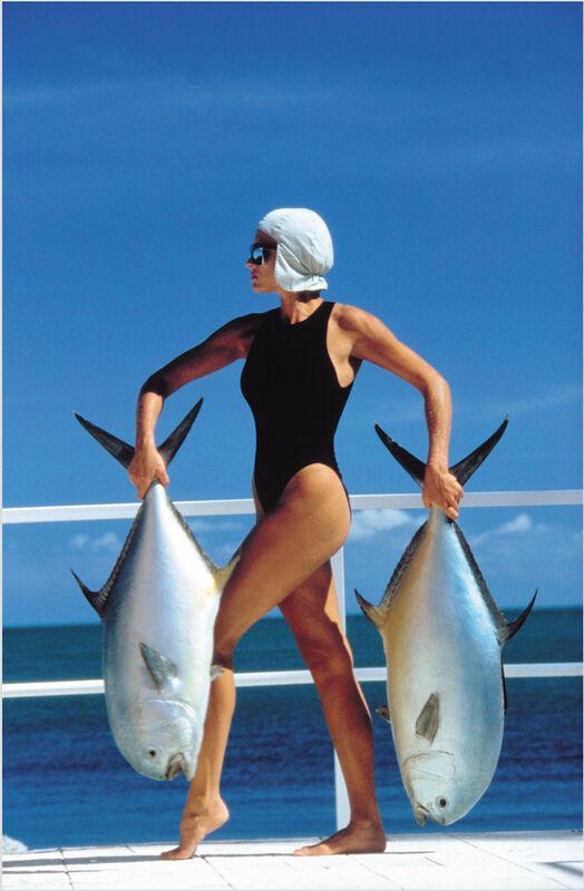 Jean-Daniel Lorieux, 'Triffie, V de V swimsuit, Isla Meralda', 1985, Photography, Pigment Print, Galerie Dumonteil