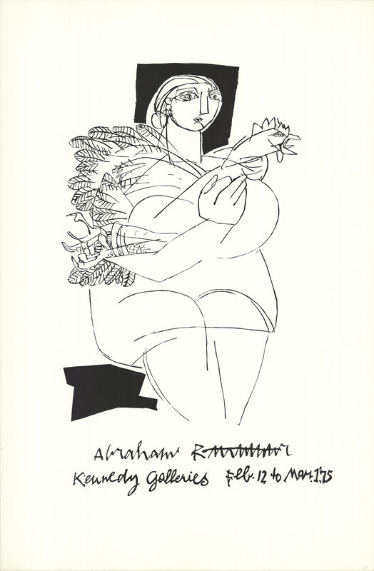 Pablo Picasso, 'Woman with Rooster', 1975, Ephemera or Merchandise, Stone Lithograph, ArtWise