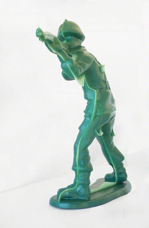 Yoram Wolberger, 'Toy Soldier #4 (Offhand Position)', 2015, Sculpture, 3D digital scanning, CNC digital sculpting, Reinforced Fiberglass Composite, Urethane, Mark Moore Fine Art