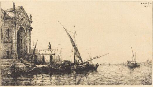 Adolphe Appian, 'At Venice', 1878