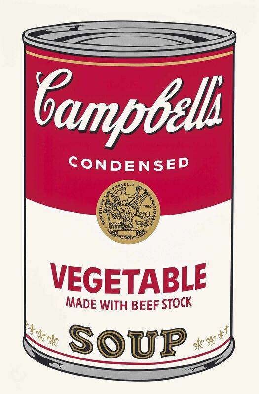Andy Warhol, 'Vegetable made with Beef Stock, from: Campbell's Soup I', 1968, Print, Screenprint in colours, on wove paper, Gallery Red