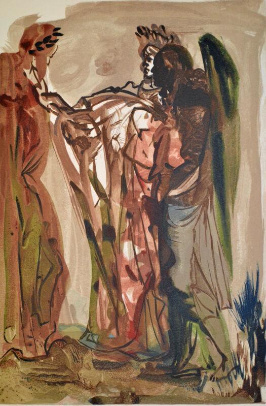 Salvador Dalí, 'The Haughty, Purgatorio canto 11, The Divine Comedy', 1960, Print, Wood Engraving, O-68