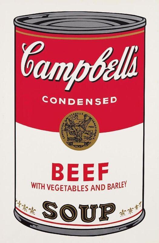 Andy Warhol, 'Beef Soup Campbells Soup', 1968, Print, Screenprint on paper, OSME Fine Art