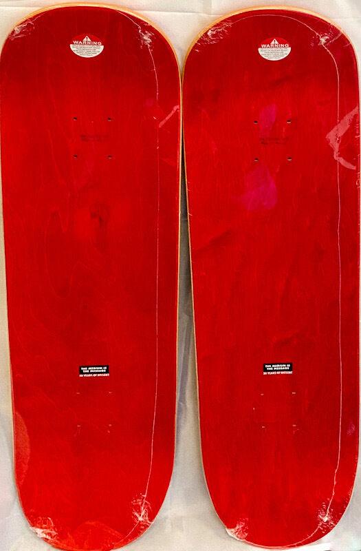 Shepard Fairey, 'Shepard Fairey Obey Skateboard Decks (set of 2)', 2019, Design/Decorative Art, Silkscreen on maplewood skate decks, Lot 180