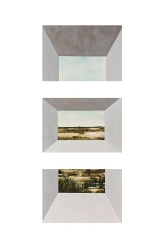 Kevin Earl Taylor, 'Magnetic Field (Triptych)', 2014, Painting, Oil and acrylic on paper, mounted on metal, K. Imperial Fine Art