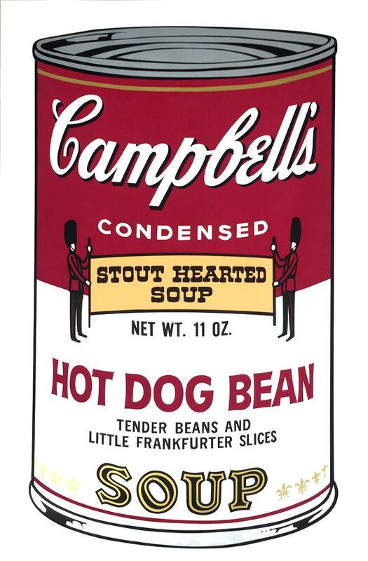 Andy Warhol, 'Hot Dog Bean Soup from Campbells Soup II', 1969, Print, Screenprint on wove paper, Lush Art Agency
