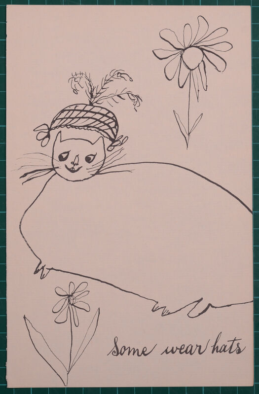 Andy Warhol, 'Some wear hats from Holy Cats by Andy Warhol's Mother', ca. 1957, Print, Offset lithograph on wove paper, NCAG