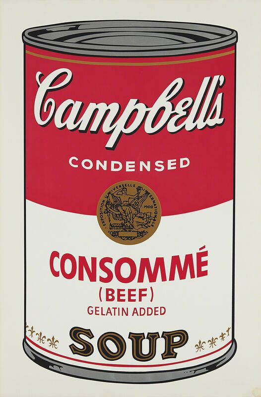 Andy Warhol, 'Consommé Beef, from Campbell's Soup I', 1968, Print, Screenprint in colors, on wove paper, with full margins., Phillips