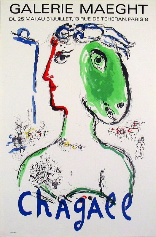 Marc Chagall, 'Artist As A Phoenix', 1972, Print, Lithograph, ArtWise