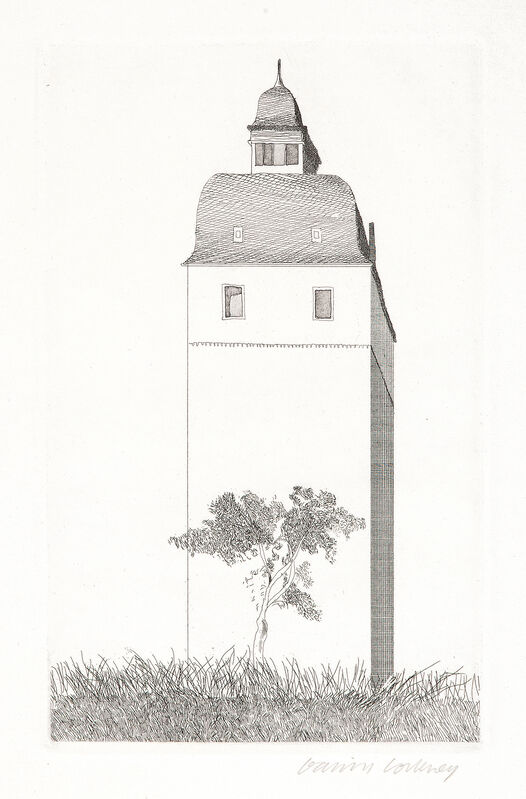 David Hockney, 'The Bell Tower', 1969, Print, Etching and Aquatint, Gerrish Fine Art