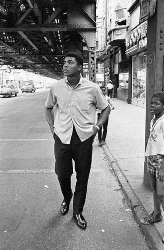 Thomas Hoepker, 'Muhammad Ali Walking in Downtown Chicago', 1966, Photography, Archival Pigment Print, CAMERA WORK