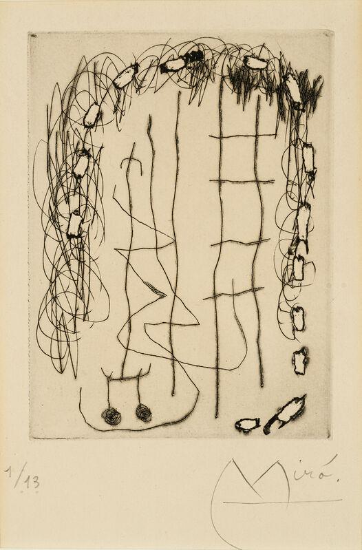 Joan Miró, 'Flux de l'aimant', 1965, Print, Drypoint on paper, Galerie Simon Blais