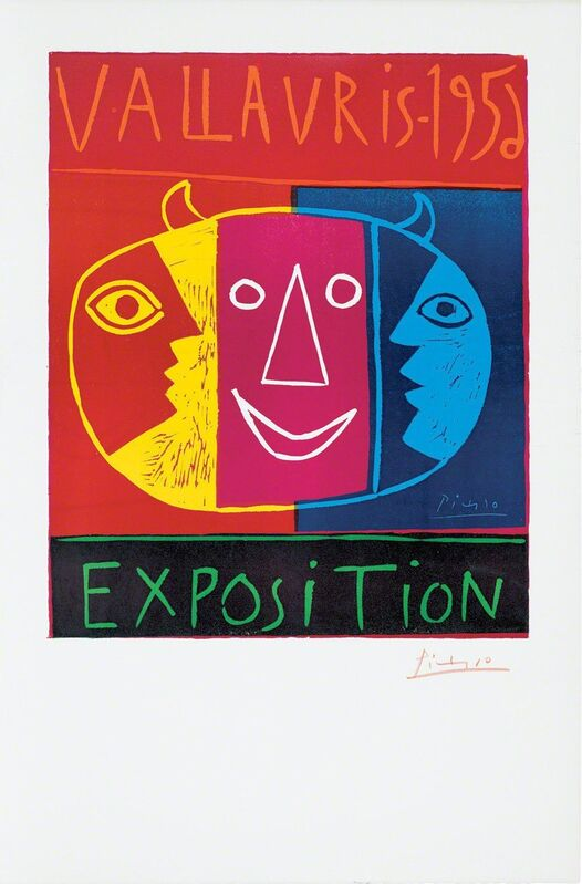 Pablo Picasso, 'Vallauris - 1956 Exposition, June 19, 1956', Print, Linocut in 5 colors on 5 linoblocks, pulled on Arches wove paper byArnéra, Gagosian