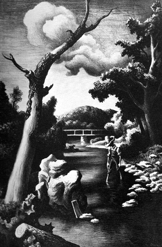 Thomas Hart Benton, 'Shallow Creek', 1939, Print, Lithograph, Kiechel Fine Art