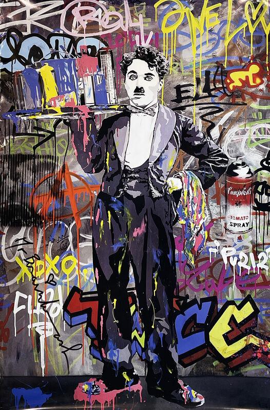 Mr. Brainwash, ''Charlie Chaplin'', 2008, Print, Offset lithograph on satin poster paper., Signari Gallery