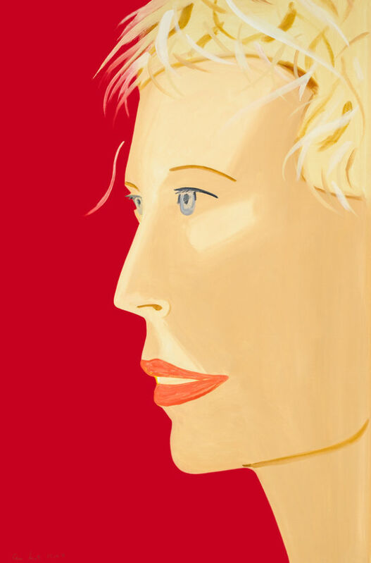 Alex Katz, 'Coca-Cola Girl (Red)', 2018, Print, Archival pigment ink on Entrada Rag Bright White 300 gsm fine art paper, Suite of two, Haw Contemporary
