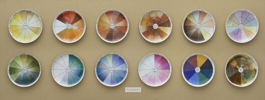 Judy Chicago, 'China-painting Color Test Plates from The Dinner Party', 1974