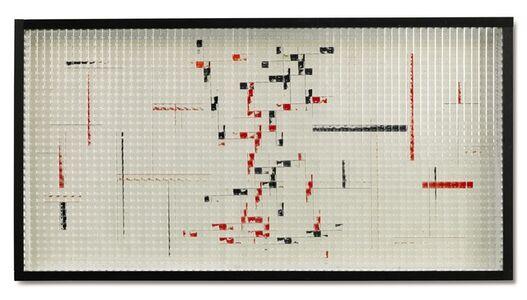 Grazia Varisco, 'Reticolo frangibile R+N ortogonale + inclinato', 1970