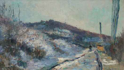 Albert Lebourg, 'Route de village, Hondouville-sur-Iton', ca. 1890