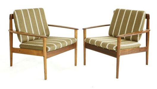 Grete Jalk, 'Two rosewood 'Model 56' easy chairs', c. 1965