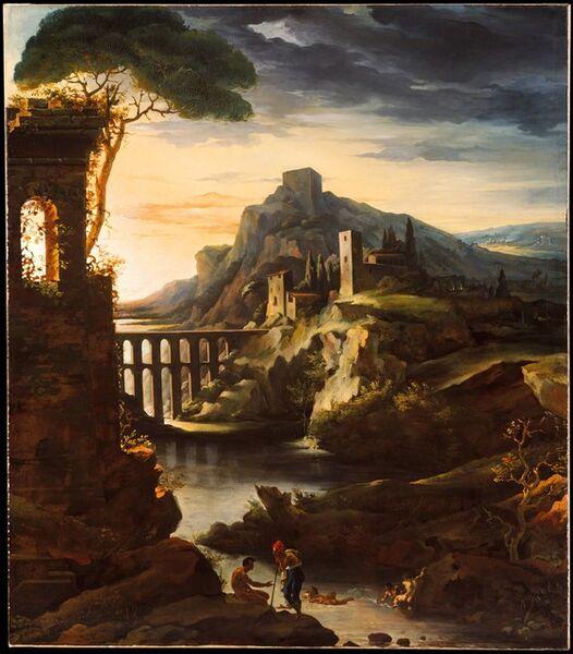 Théodore Géricault, 'Evening: Landscape with an Aqueduct', 1818