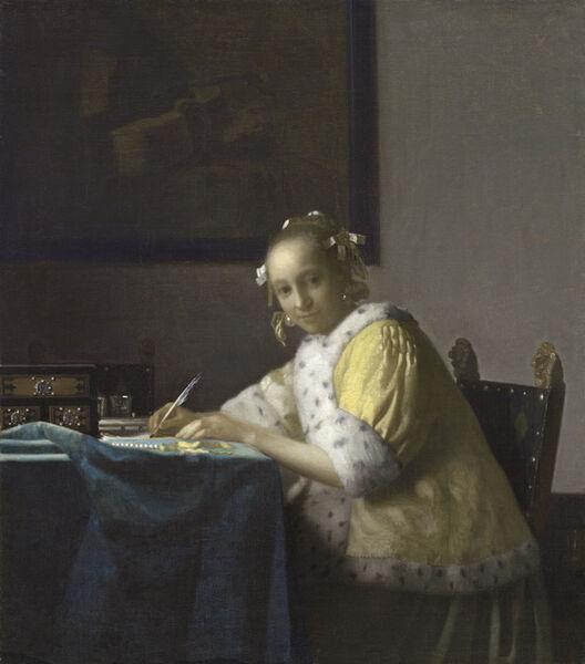 Johannes Vermeer, 'A Lady Writing', ca. 1665