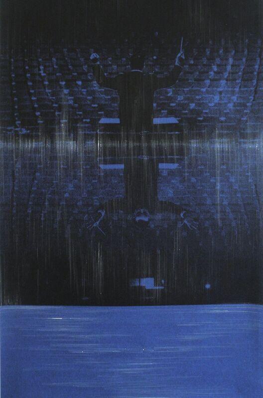 Omar Barquet, 'Monotone (After Y. Klein)', 2014, Print, Modified print, monotype, Arróniz Arte Contemporáneo