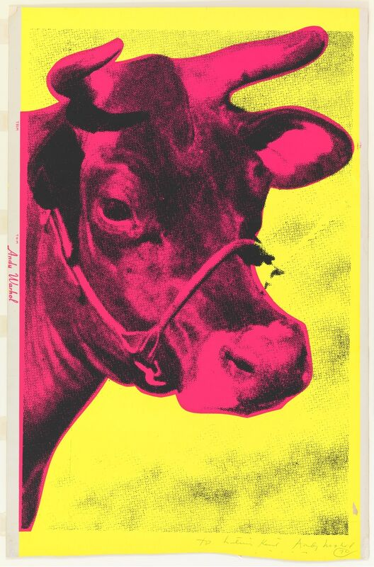 Andy Warhol, 'Cow', 1966, Print, Screenprint on wallpaper, Gallery Red
