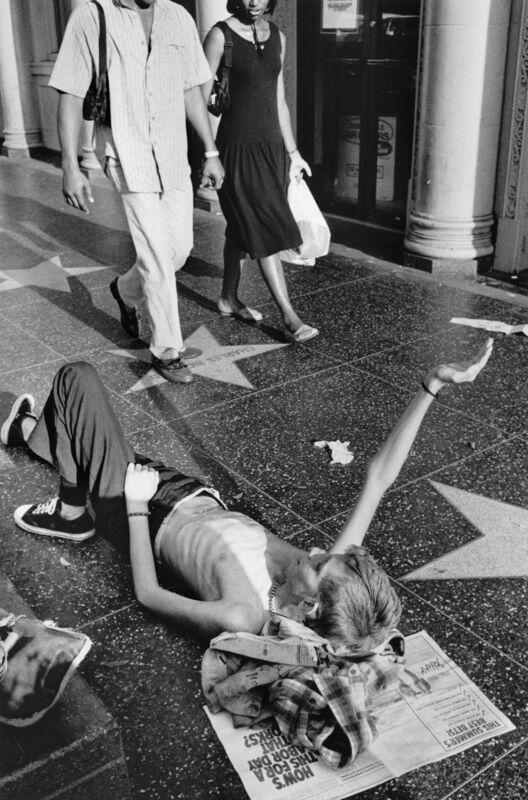 Jim Goldberg, 'Dave Panhandling, Los Angeles, California', 1988, Photography, Gelatin silver print (vintage), Casemore Kirkeby