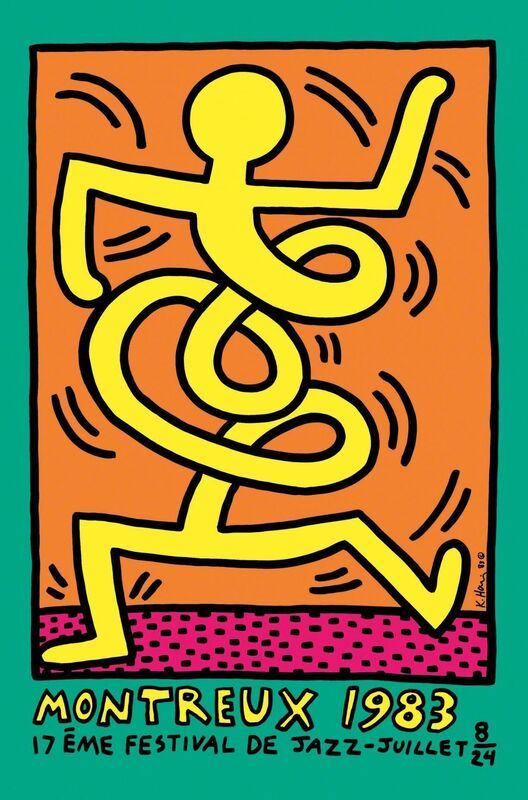 Keith Haring, 'Montreux Jazz 83 (Green)', 1983, Posters, Silkscreen on paper, Samhart Gallery