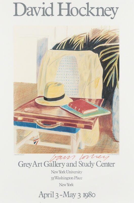 David Hockney, 'Poster for Grey Art Gallery and Study Center', 1980, Print, Offset lithograph printed in colours on wove paper, Forum Auctions