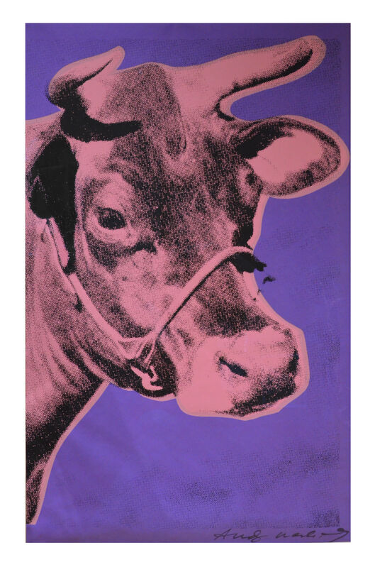 Andy Warhol, 'Cow', 1976, Print, Screenprint in colors, on wallpaper, Artsy x Rago/Wright