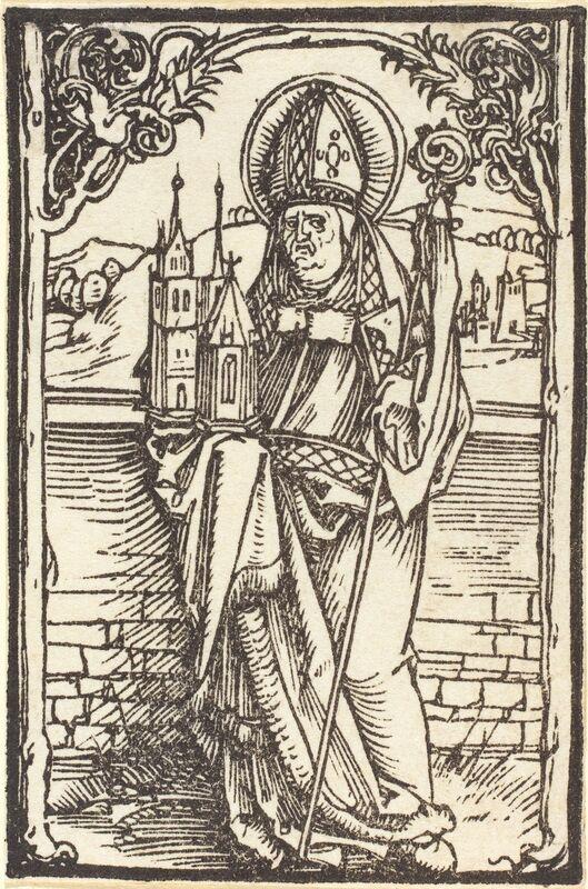 Albrecht Dürer, 'Saint Wolfgang', ca. 1500, Print, Woodcut, National Gallery of Art, Washington, D.C.